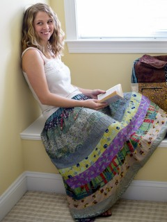 Tiered Panel Skirt